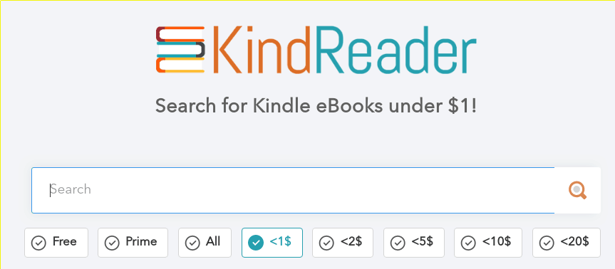 Search for cheap Kindle ebooks with KindReader