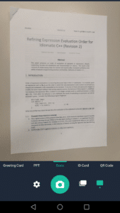 Scan a document with CamScanner