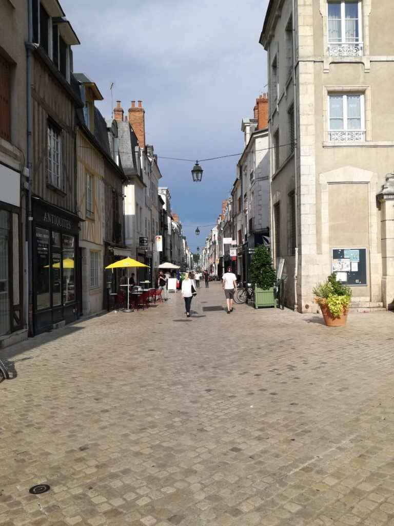 Typical ancient street from Orléans