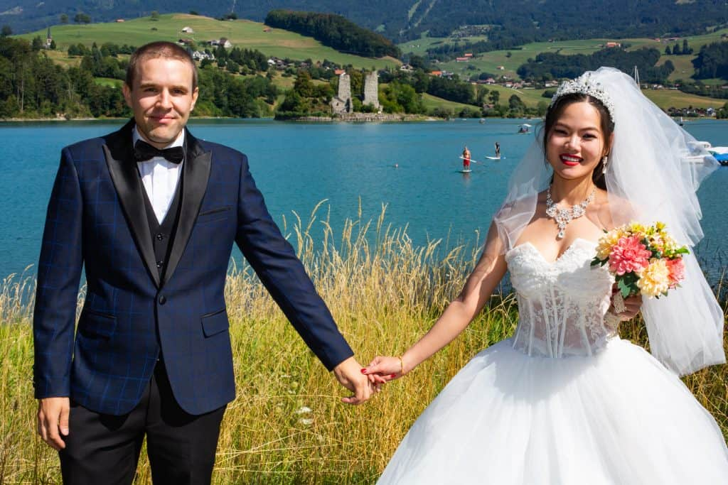 The Poor Swiss couple on Wedding day