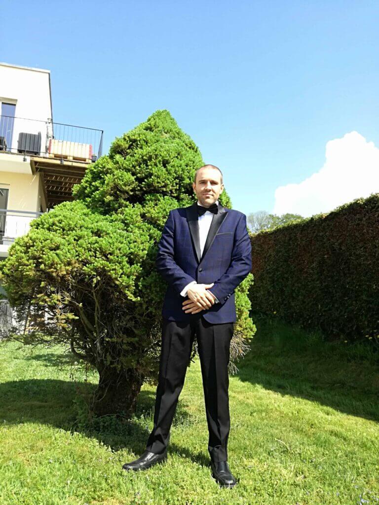 Mr The Poor Swiss in his Wedding Suit