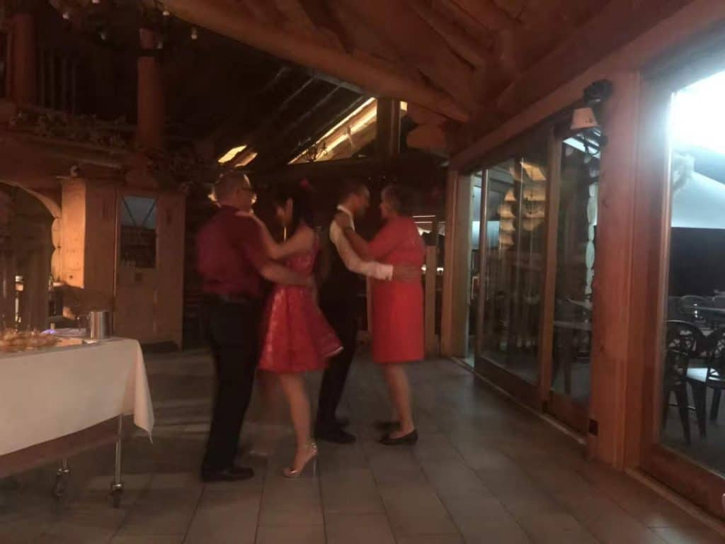 Dancing at our wedding