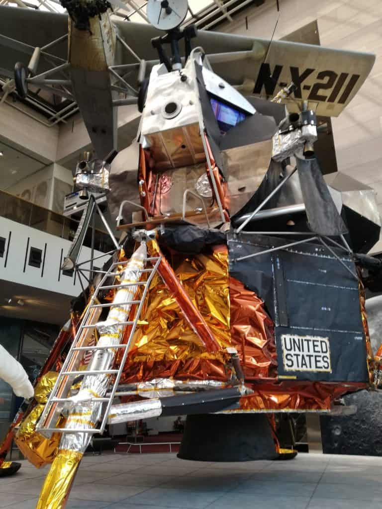 Replica of a moon lander