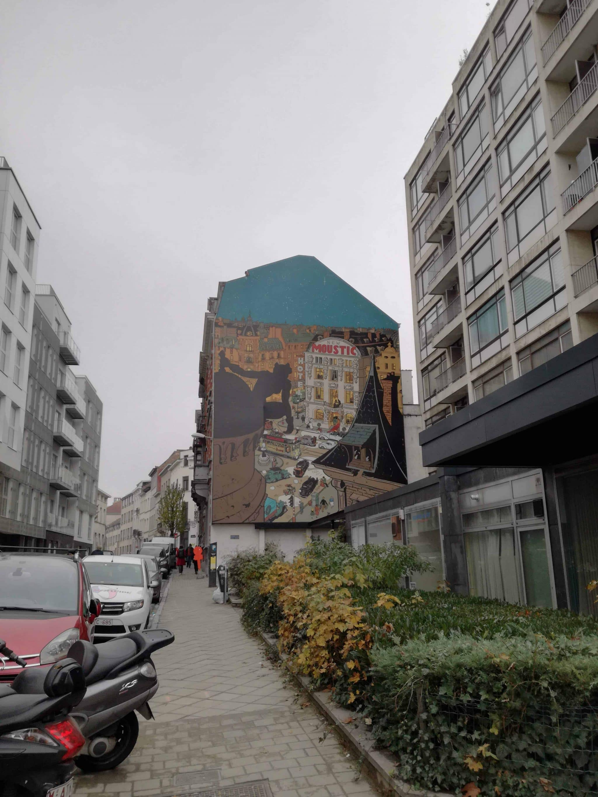 A wall painting in Brussels