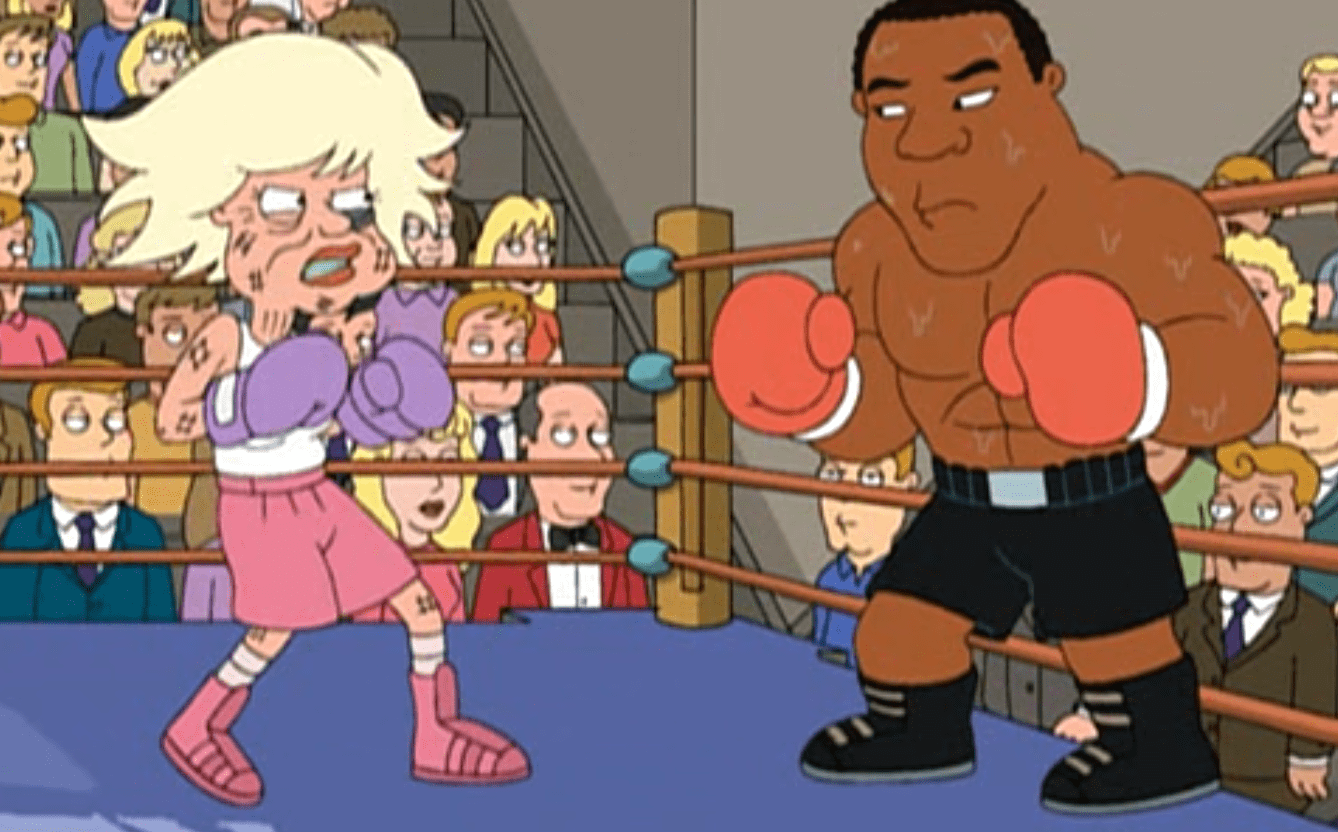 Carol Channing boxing Mike Tyson