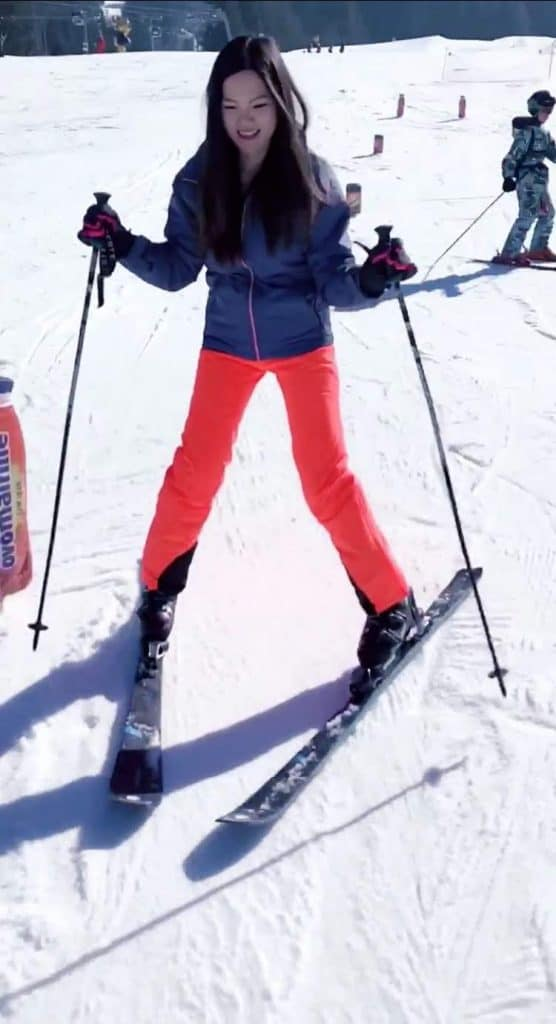 Mrs. The Poor Swiss on skis