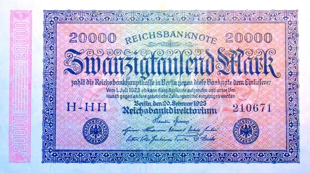 The Deutsche Mark was highly inflated after World War II