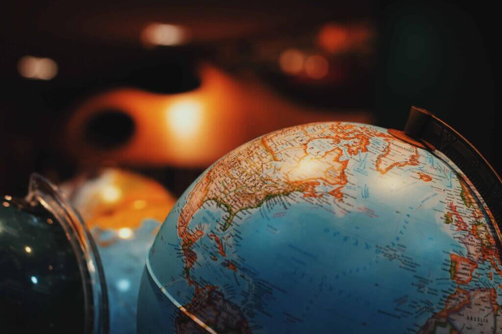 Globe representing the Earth
