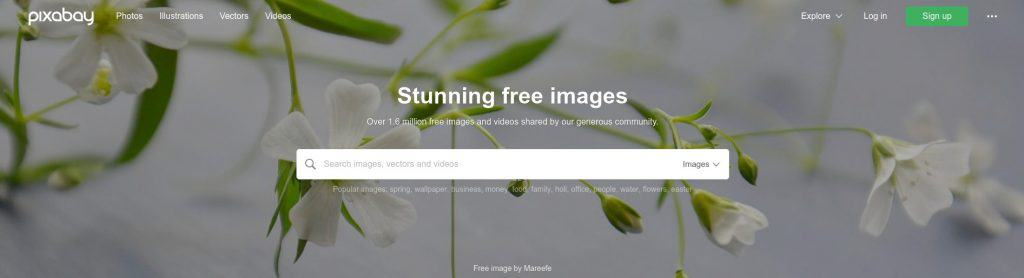 Pixabay is a nice collection of free images as well