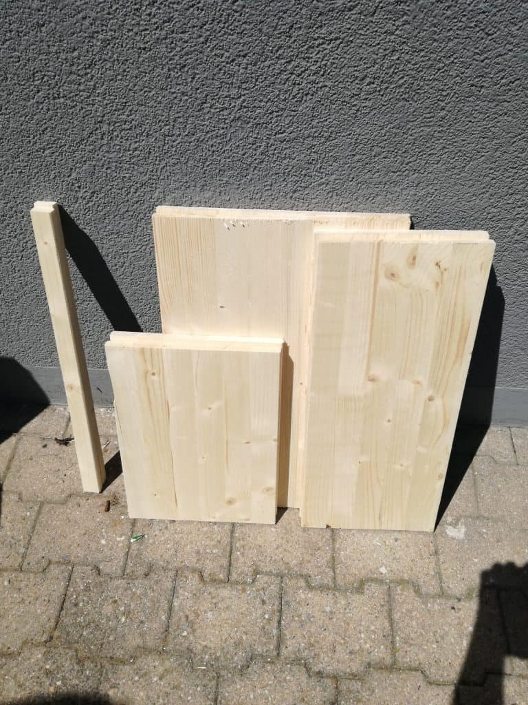 Cut boards for DIY Cabinet