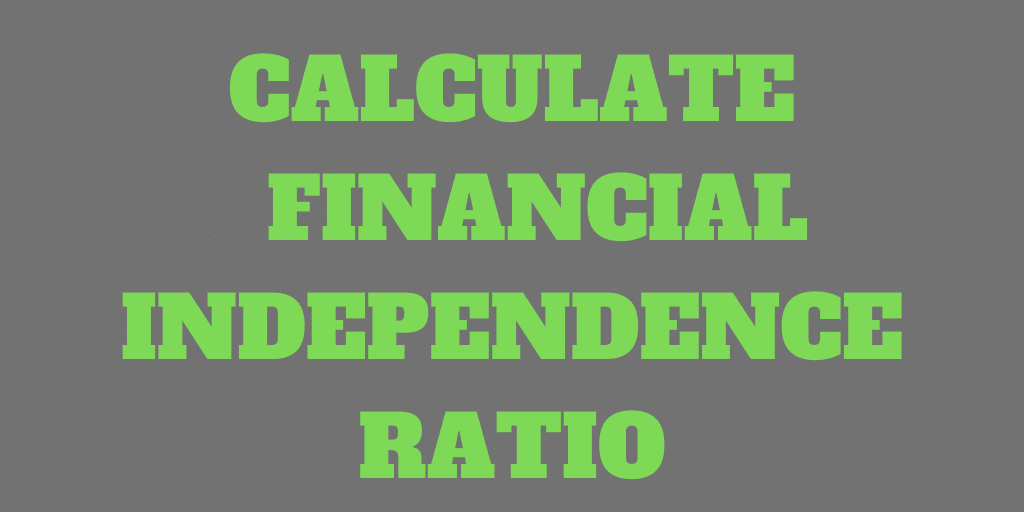 How to Calculate your Financial Independence (FI) Ratio