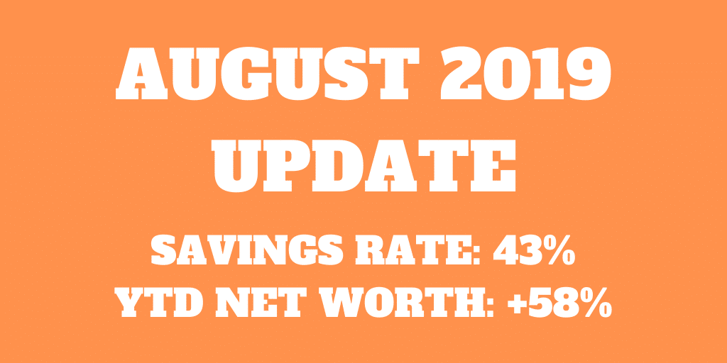 August 2019 – Another expensive month