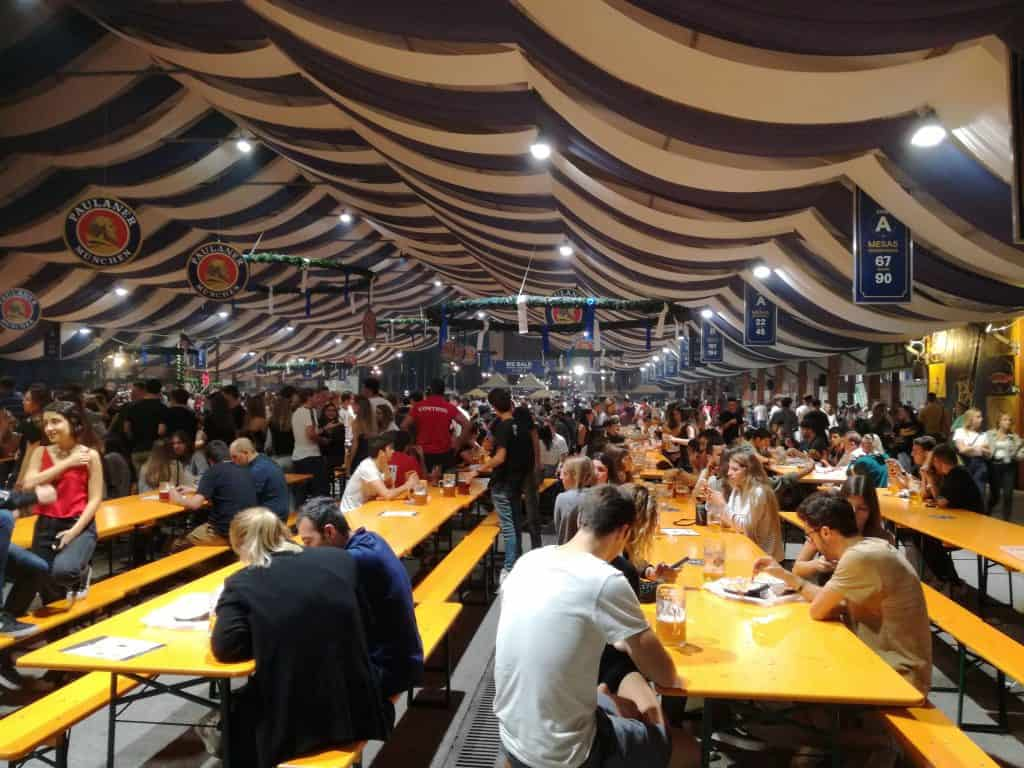 Party at the Barcelona's Oktoberfest