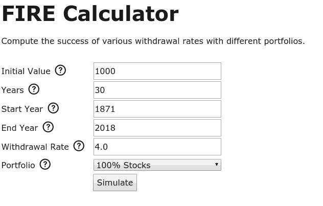 My new FIRE Calculator