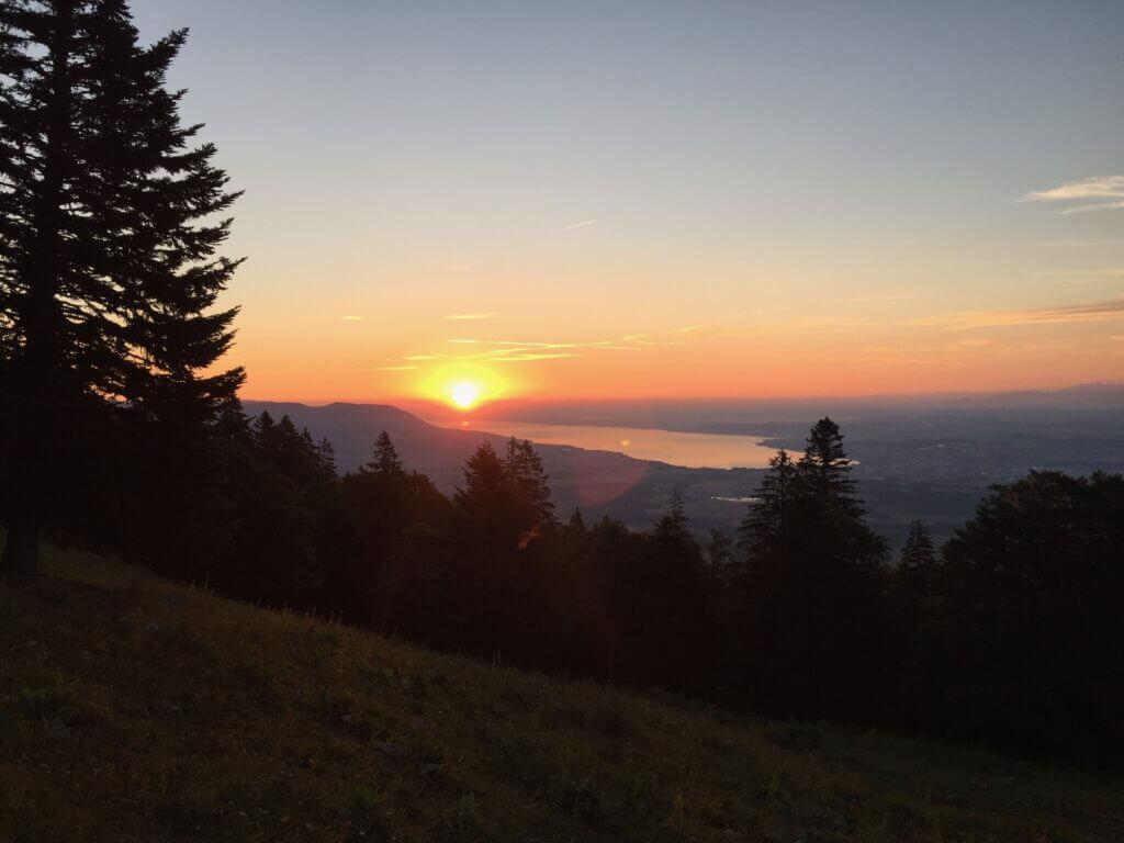 A sunrise in Jura at 5am