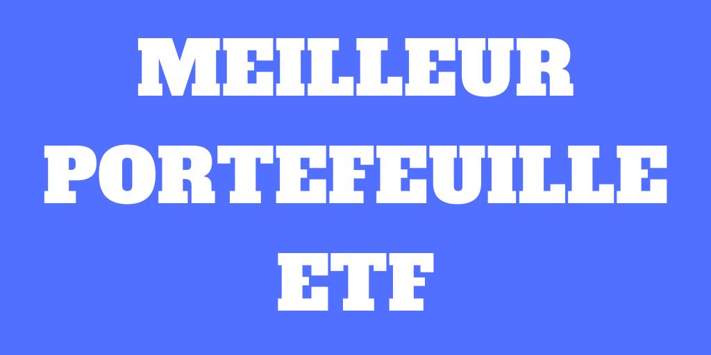 Le meilleur portefeuille ETF en Suisse pour 2020
