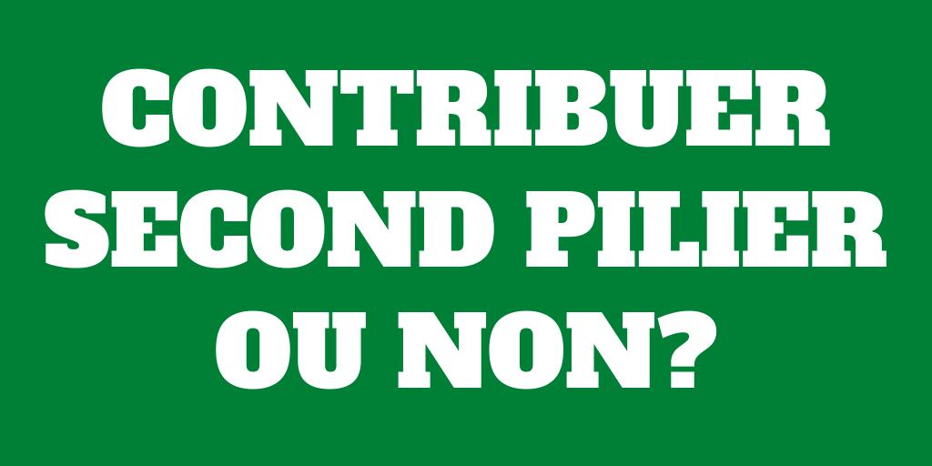 Devriez-vous contribuer à votre second pilier en 2020?