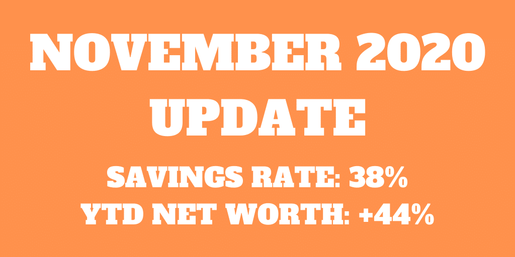 November 2020 - An uneventful yet expensive month