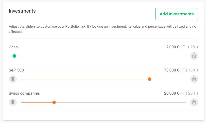 A custom portfolio with Investart