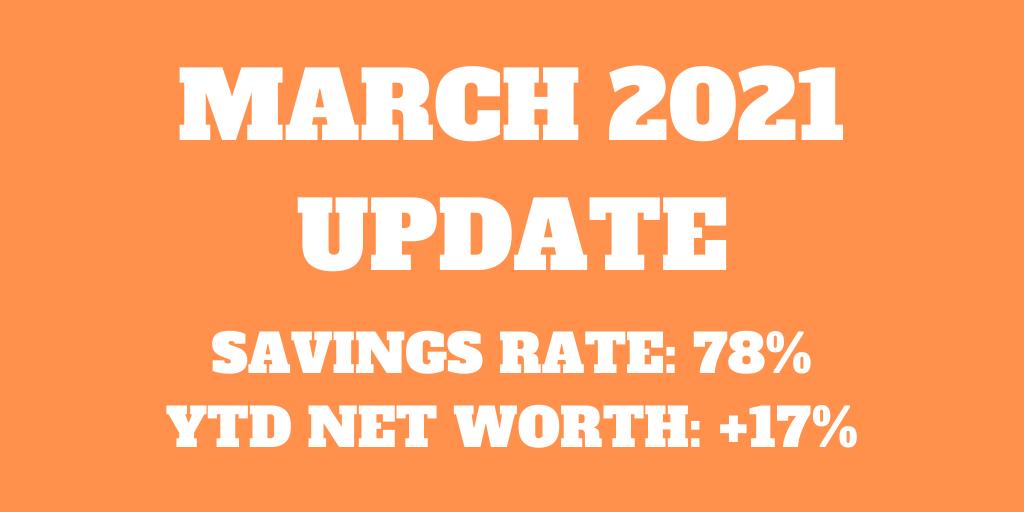 March 2021 - Splurging the bonus